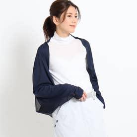 【UVカット】異素材ドッキング ボレロ (ネイビー)