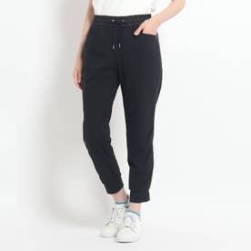 サイドライン サステナブルジャージ素材パンツ (ブラック)