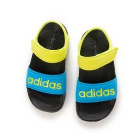 adidas/キッズ サンダル FY8850 (ブラック×イエロー)