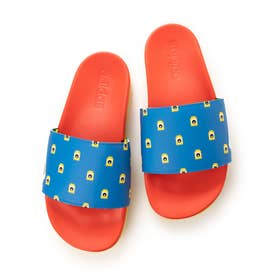 ADILETTE CF K FZ2866 (BLUE/YELLOW)
