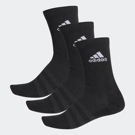クッション クルー ソックス 3足組み [Cushioned Crew Socks 3 Pairs] (ブラック)