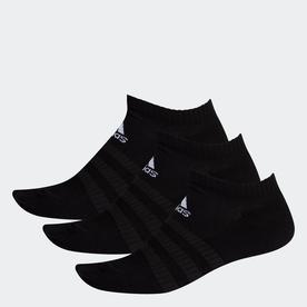 クッション ローカット ソックス 3足組み [Cushioned Low-Cut Socks 3 Pairs] (ブラック)
