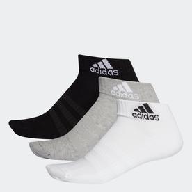 クッション アンクル ソックス 3足組み [Cushioned Ankle Socks 3 Pairs] (グレー)