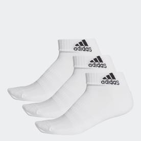 クッション アンクル ソックス 3足組み [Cushioned Ankle Socks 3 Pairs] (ホワイト)