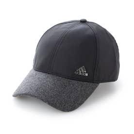 レディース ゴルフ キャップ UVカット メタルロゴキャップ GU6176 (ブラック)