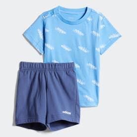 I FAVOURITES Tシャツ&ショーツ セット (ブルー)