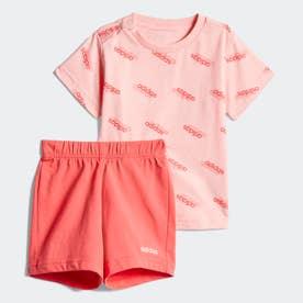 I FAVOURITES Tシャツ&ショーツ セット (ピンク)