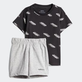 I FAVOURITES Tシャツ&ショーツ セット (ブラック)
