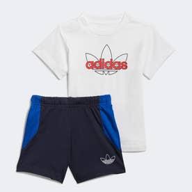 SPRT コレクション ショーツ&グラフィックTシャツセット (ホワイト)