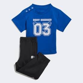× ディズニー Tシャツ&パンツ (ブルー)