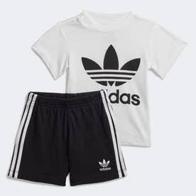 子供用トレフォイル ショーツ Tシャツ セット [Trefoil Shorts Tee Set] (ホワイト)