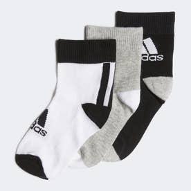 子供用 アンクル ソックス 3足組み [Ankle Socks 3 Pairs] (ブラック)