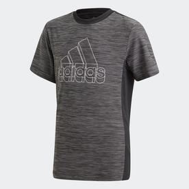 AEROREADY ヘザー 半袖Tシャツ / AEROREADY Heather Tee (ブラック)
