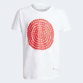 マリメッコ PRIMEGREEN AEROREADY ルーズ&ロンガー グラフィック 半袖Tシャツ / Marimekko Primegreen Graphic Tee (ホ