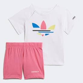 アディカラー ショーツ & Tシャツ セットアップ (ホワイト)