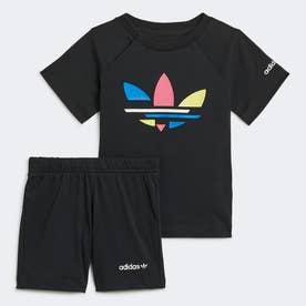 アディカラー ショーツ & Tシャツ セットアップ (ブラック)