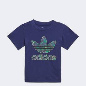 カモプリント グラフィックTシャツ (ブルー)