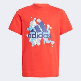 グラフィック 半袖Tシャツ (レッド)