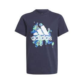 グラフィック 半袖Tシャツ (ブルー)