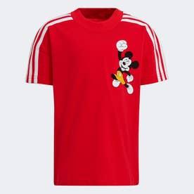 ディズニー ミッキーマウス 半袖Tシャツ (レッド)