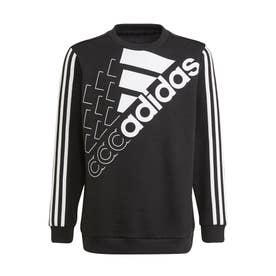 エッセンシャルズ ロゴ スウェットシャツ(ジェンダーニュートラル) (ブラック)