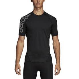 メンズ フィットネス 半袖コンプレッションインナー ALPHASKIN TEAM ビッグロゴショートスリーブTシャツ DW4144