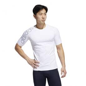 メンズ フィットネス 半袖コンプレッションインナー ALPHASKIN TEAM ビッグロゴショートスリーブTシャツ EA2783