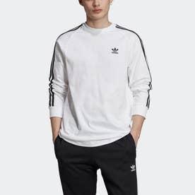 3 STRIPES LS Tシャツ (ホワイト)