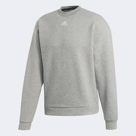 マストハブ スリーストライプス クルー スウェットシャツ / Must Haves 3-Stripes Crew Sweatshirt (グレー)