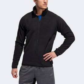 フリーリフト 3ストライプス ポーラーフリース スウェットシャツ / FreeLift 3-Stripes Polarfleece Sweatshirt (ブラック)