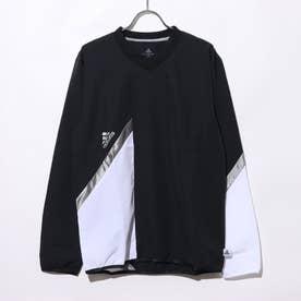 メンズ サッカー/フットサル ピステシャツ TANシーズナルライトウーブンピステ FS5038 (ブラック)