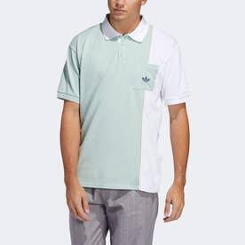 パイピング ポロシャツ (グリーン)