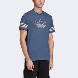 アウトライン Tシャツ (ブルー)