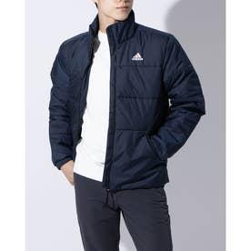 メンズ 中綿ジャケット BSCスリーストライプスINSジャケット DZ1394 (ネイビー)