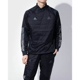メンズ サッカー/フットサル ジャージジャケット TANテックウォームピステ FS5069 (ブラック)