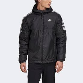 エッセンシャルズ インサレーテッド フード付きジャケット / Essentials Insulated Hooded Jacket (ブラック)
