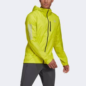 OWN THE RUN WIND JACKET HOODED M (イエロー)