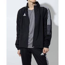 メンズ サッカー/フットサル ピステシャツ TIRO21オールウェザージャケット GH4466 (ブラック)