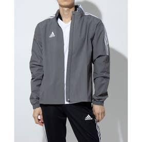 メンズ サッカー/フットサル ピステシャツ TIRO21オールウェザージャケット GM7389 (グレー)