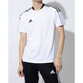 メンズ サッカー/フットサル 半袖シャツ TIRO21トレーニングジャージー GM7590 (ホワイト)
