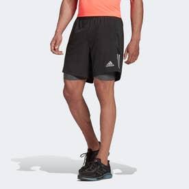 オウンザラン 2 in 1 ショーツ / Own the Run Two-in-One Shorts (ブラック)