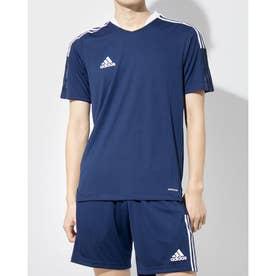 メンズ サッカー/フットサル 半袖シャツ TIRO21トレーニングジャージー GM7585 (ネイビー)