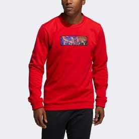 MIC グラフィック クルースウェットシャツ/ MIC Graphic Crew Sweatshirt (レッド)