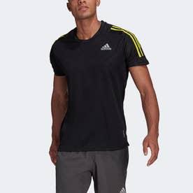 オウン ザ ラン 3ストライプス 半袖ランニングTシャツ / Own The Run 3-Stripes Running Tee (ブラック)