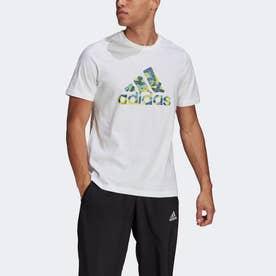 ブランドテープ ロゴ グラフィック 半袖Tシャツ / Branded Tape Logo Graphic Tee (ホワイト)