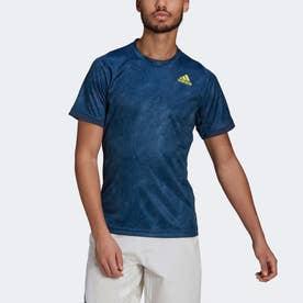 テニス フリーリフト プリント PRIMEBLUE 半袖Tシャツ / Tennis Freelift Printed Primeblue Tee (ブルー)