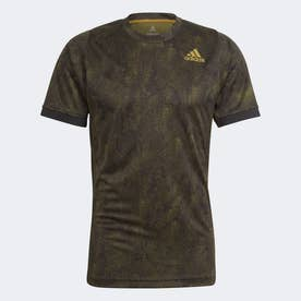 テニス フリーリフト プリント PRIMEBLUE 半袖Tシャツ / Tennis Freelift Printed Primeblue Tee (ブラック)