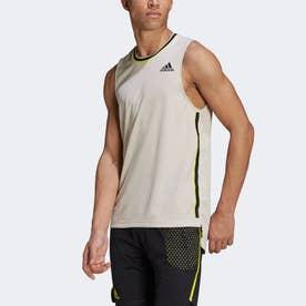 テニス HEAT. RDY PRIMEBLUE シャツ / Tennis HEAT. RDY Primeblue Shirt (ベージュ)