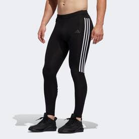 ラン イット 3ストライプス タイツ / Run It 3-Stripes Tights (ブラック)