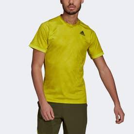テニス フリーリフト プリント PRIMEBLUE 半袖Tシャツ / Tennis Freelift Printed Primeblue Tee (イエロー)